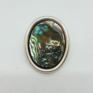 Faux shell cocktail ring sample